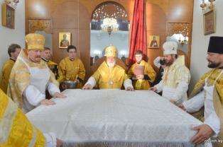 Предстоятель Белорусской Православной Церкви совершил чин великого освящения Воскресенского собора города Борисова