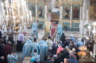 В Субботу Акафиста митрополит Павел возглавил Литургию в Свято-Духовом кафедральном соборе города Минска