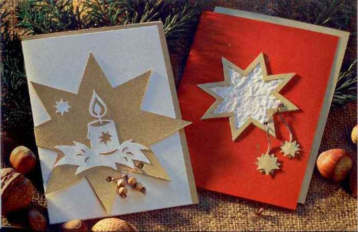 Как своими руками сделать рождественскую открытку