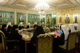 Патриарший Экзарх всея Беларуси принял участие в заключительном в 2015 году заседании Священного Синода