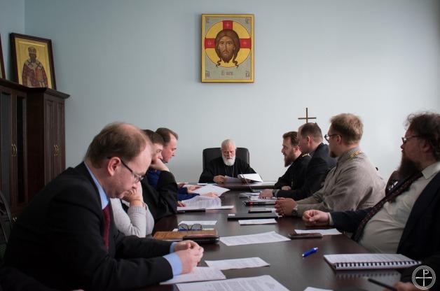 Митрополит Павел возглавил очередное заседание Ученого совета Минской духовной академии